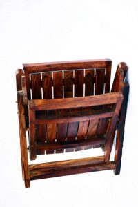 Jangid Handicraft Sheesham Wood Folding Arm Chair 5