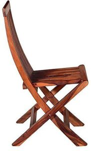 MH Decoart Sheesham Wood Comfort Folding Chair`
