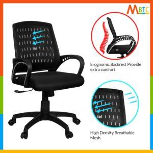 MBTC Alaska Mesh Office Revolving Desk Chair 5