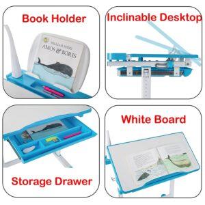 Alex Daisy Pluto Kids Height Adjustable Study Table & Chair Set 4