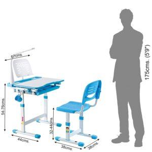 Alex Daisy Pluto Kids Height Adjustable Study Table & Chair Set 7