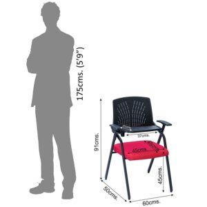 AlexDaisy Study Chair (Iron, Blue) 5