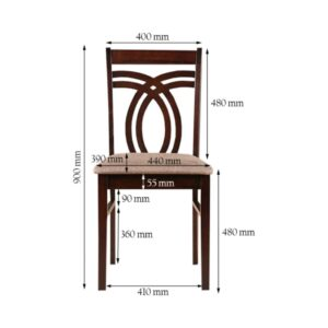 HomeTown Stella Solid Wood Dining Chair 9