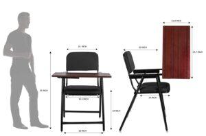 MBTC Mavic Folding Study Chair with Cushion & Adjustable Writing Pad7