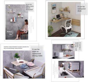 Mild Steel Wall-Mounted Folding Laptop Desk3