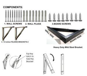 Mild Steel Wall-Mounted Folding Laptop Desk7