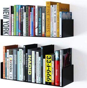 U shaped books shelf