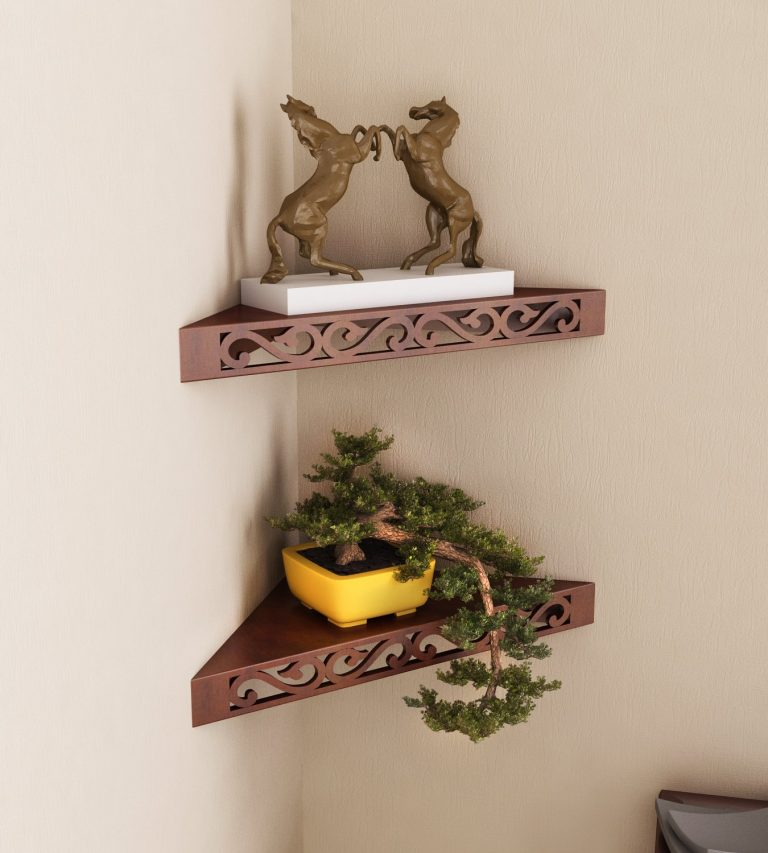 Home Sparkle Corner Wall Shelfs