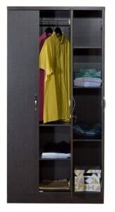 DeckUp Cove Engineered Wood Wardrobe with Mirror Dark 2